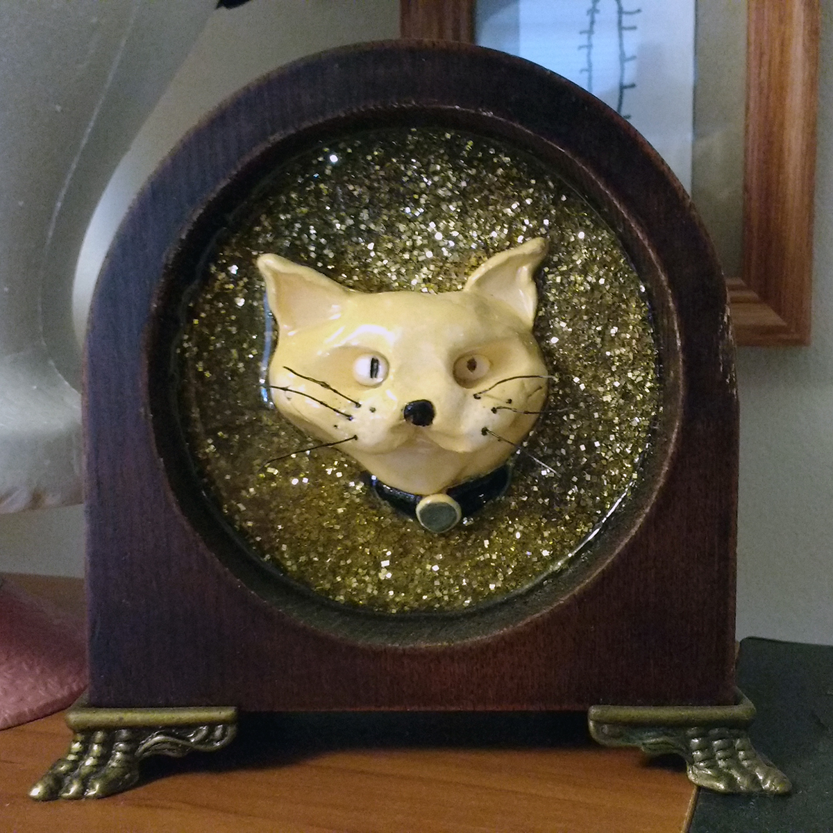 ptermclean art time cat kitty clock | ptermclean.com